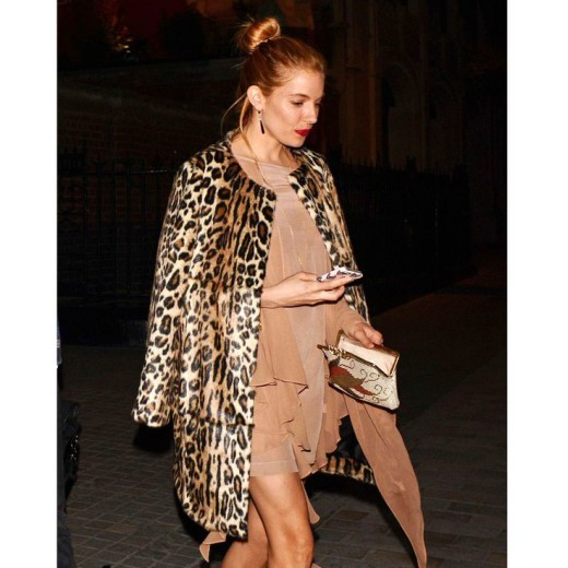 Sylvie in the Sky / Winter Style Guide / 8 Classic Coats It Girls Love / Sienna Miller / Leopard Coat