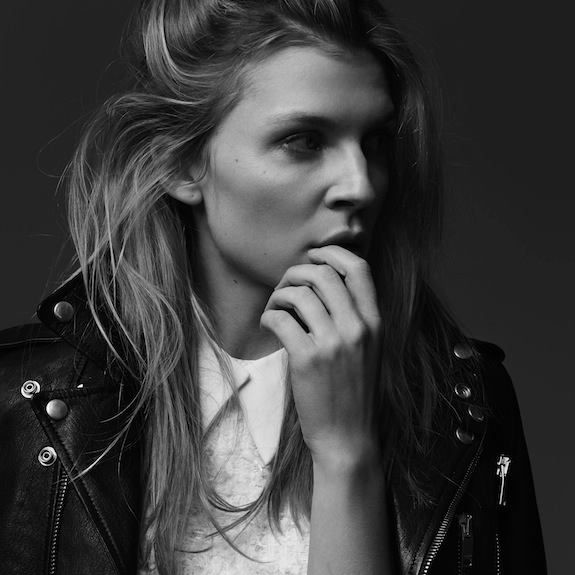 Sylvie in the Sky / Winter Style Guide / 8 Classic Coats It Girls Love / Clemence Poesy / The Leather Moto Jacket
