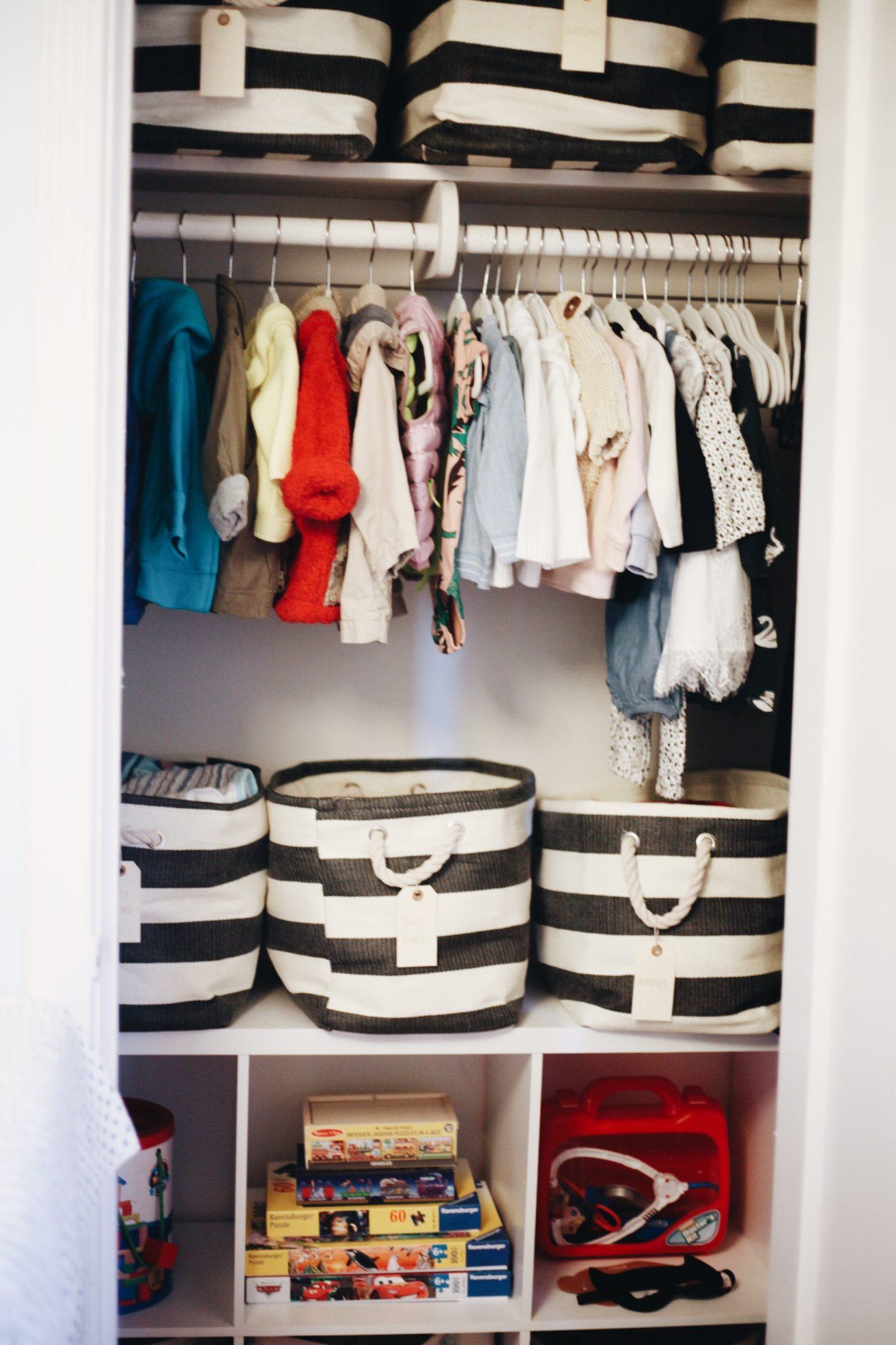 Shared Nursery Closet Makeover Organization   Container Store   Neat Method    SHARED NURSERY CLOSET MAKEOVER ...